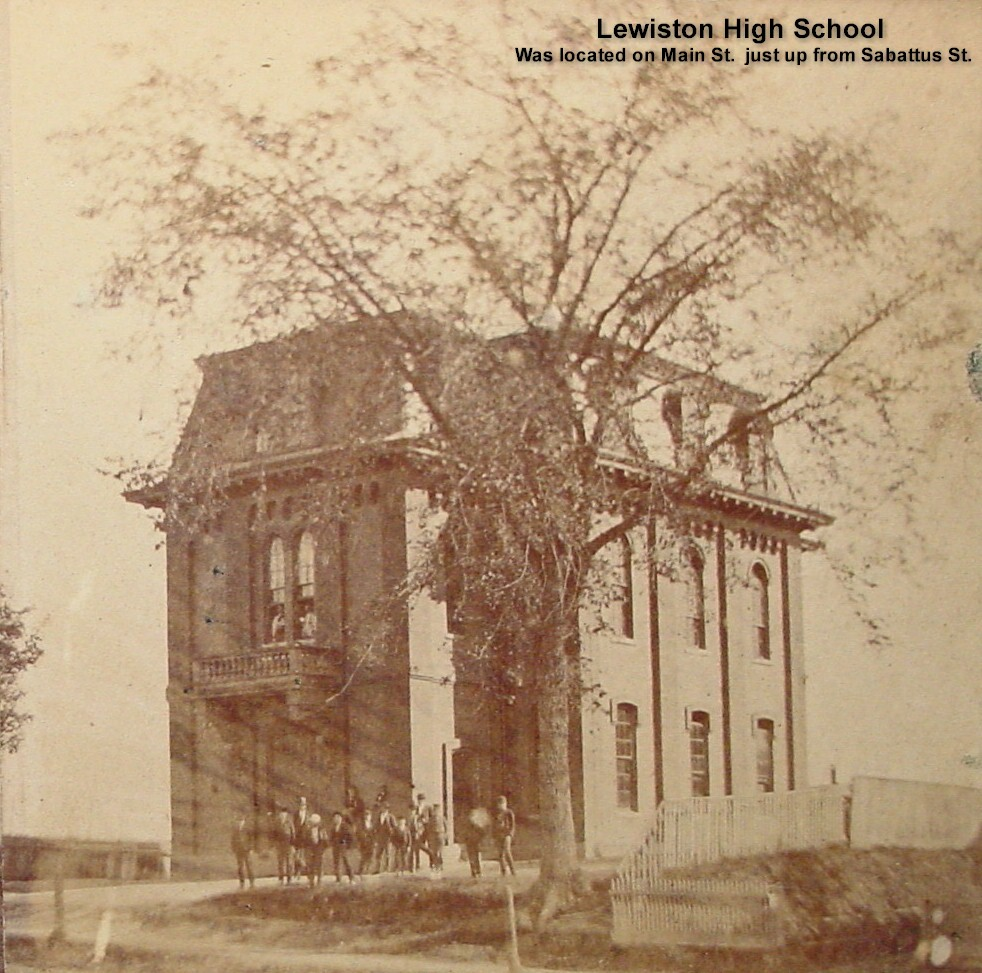 High School Lewiston (Located on Main St., just up from Sabattus St.)