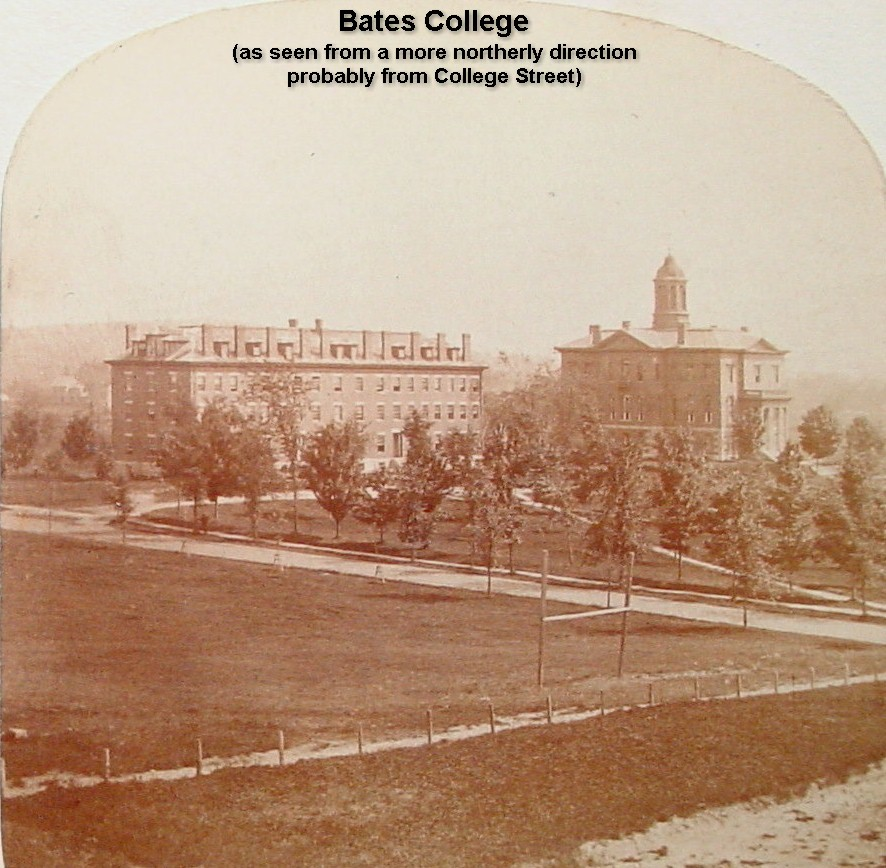 Bates College as seen from a more northerly direction probably from College St.