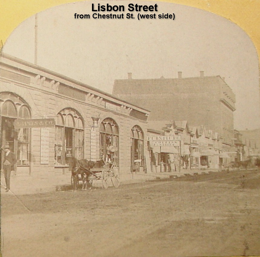 Lisbon Street from Chestnut St. (west side)