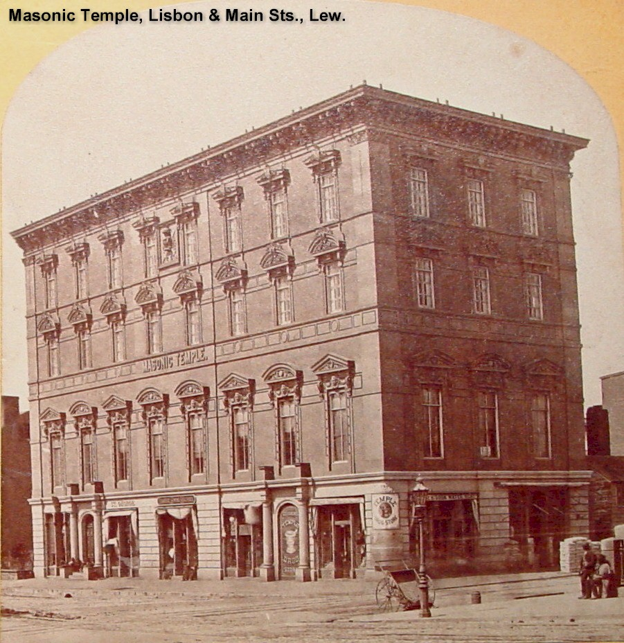 Masonic Temple Building - Lisbon and Main Sts.