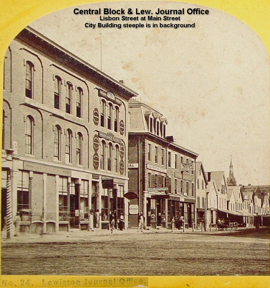 Central Block - Lisbon and Main Sts. (Lew. Falls Journal Office)