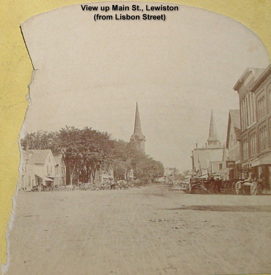 View up Main St., Lewiston from Lisbon Street