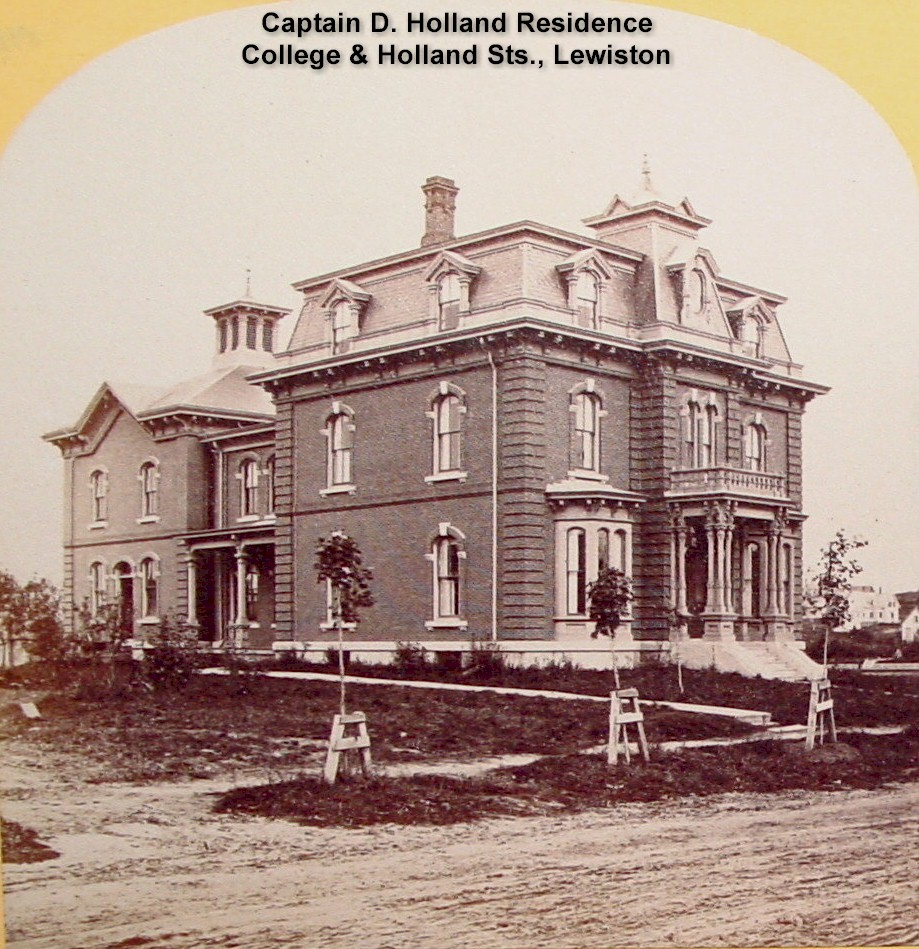 Capt. D. Holland - House at College and Holland Sts., Lew.