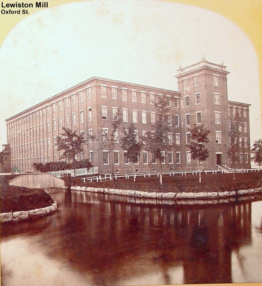 Lewiston Mill - Oxford St. Built in 1860 (Manufactured cotton bags)