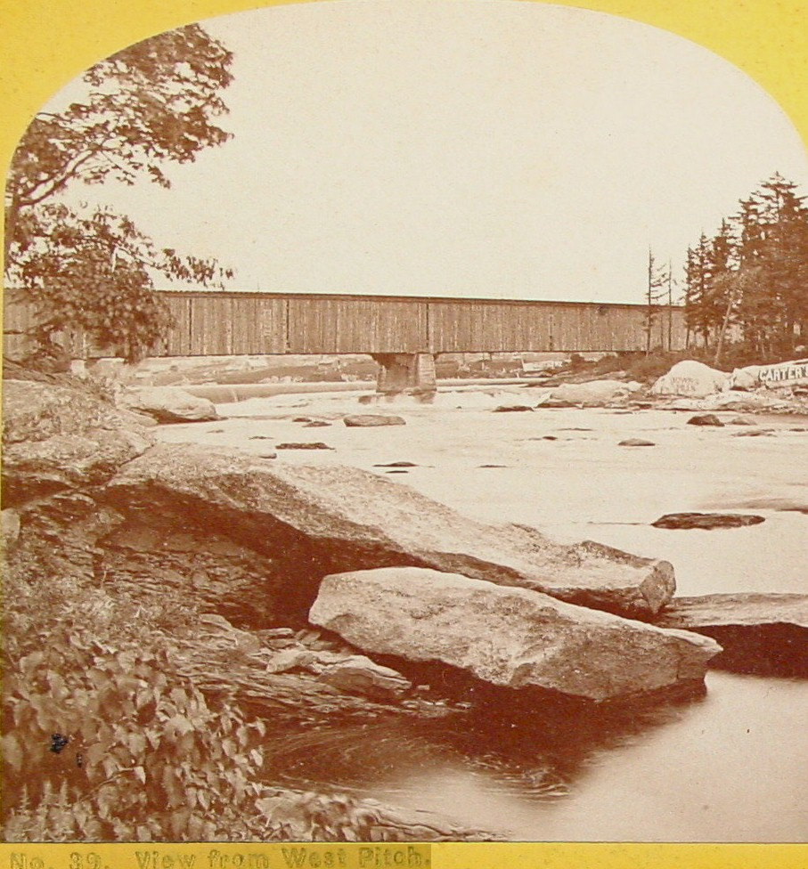 View from West Pitch of the Railroad bridge above the Great Falls (probably had a pedestrian bridge under it)
