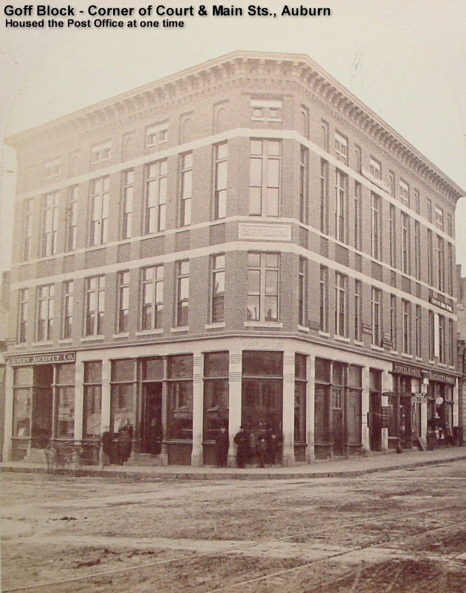 Goff Block, Court and Main Sts., Auburn - housed Post Office