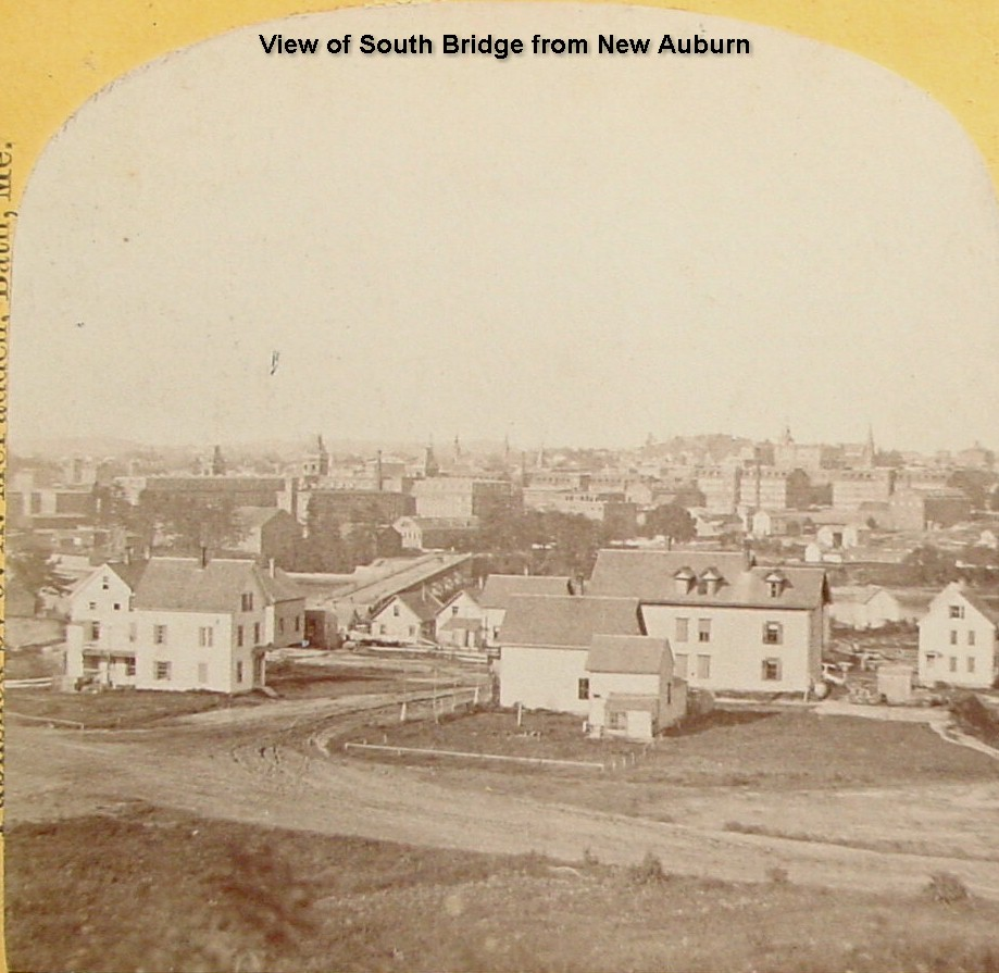 View of South Bridge from New Auburn (Prospect Hill)