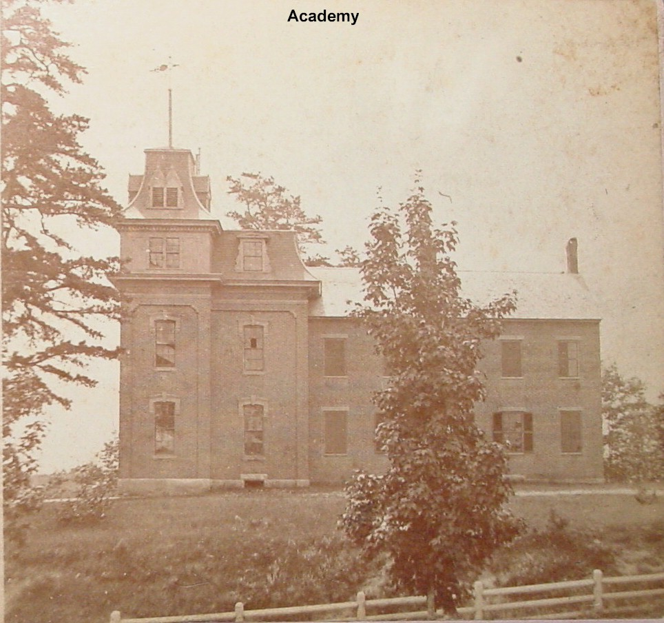 Academy, side view - It burned and was replaced by Edward Little High School on Academy St., Auburn