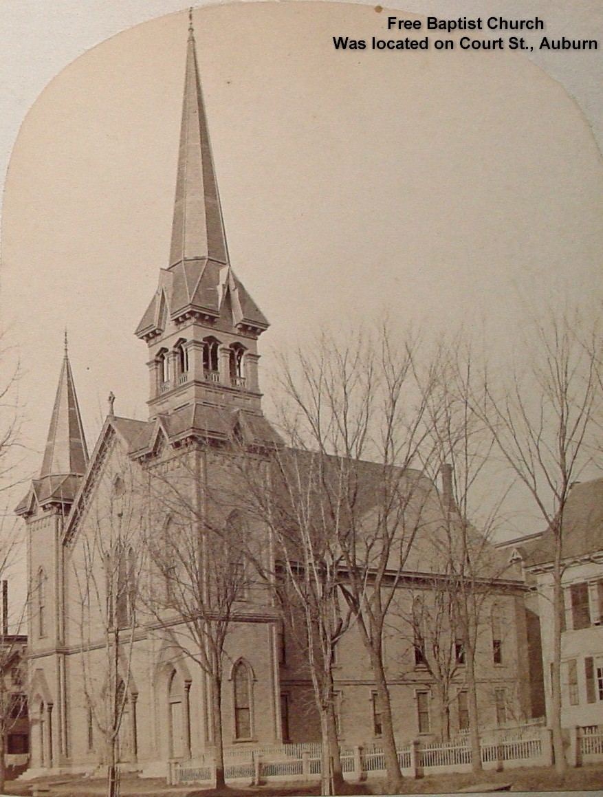 Free Baptist Church (exterior) (Was located on Court St., Auburn and was torn down)