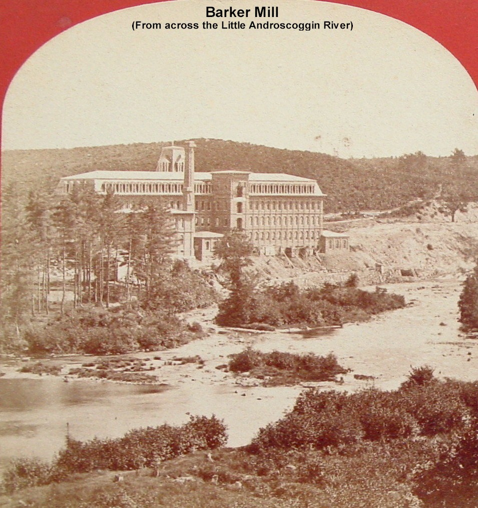 Barker Mill, Auburn (rear view) from across the Little Androscoggin River