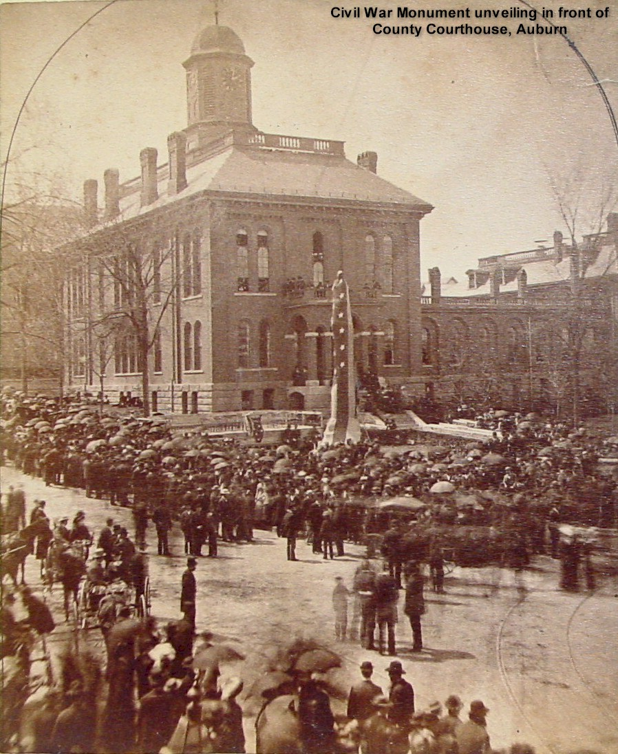 Civil War Monument unveiling in front of County Courthouse