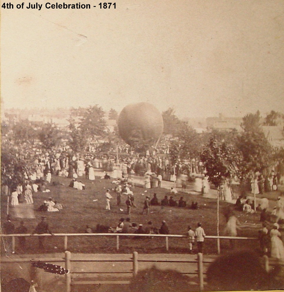 4TH July 1879 in City Park - Balloon launching