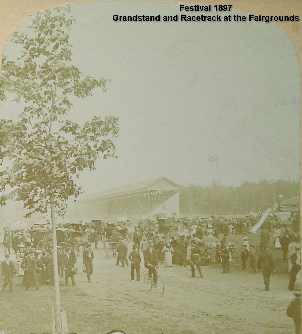 Festival of 1897 - Grandstand and Racetrack at Fairgrounds