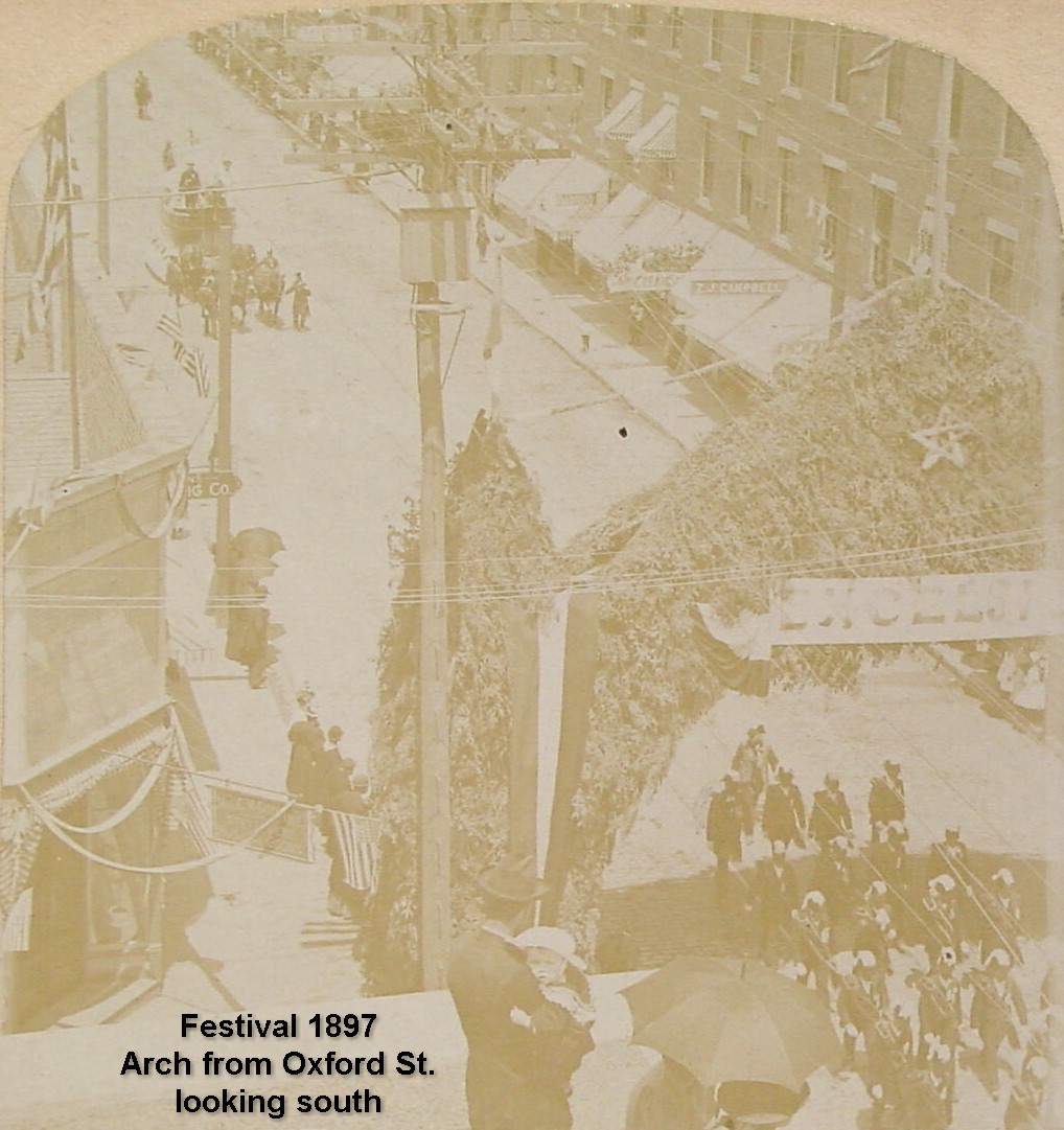 Festival 1897 - Arch from Oxford St. looking south